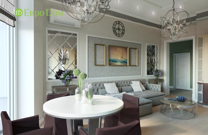 Дизайн интерьера 3-комнатной квартиры в стиле фьюжн. Фото 02