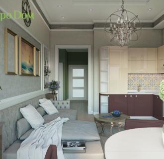 Дизайн трехкомнатной квартиры 116 кв. м в стиле фьюжн. Фото проекта