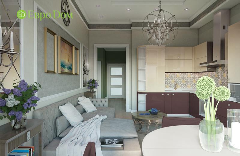 Дизайн интерьера 3-комнатной квартиры в стиле фьюжн. Фото 03