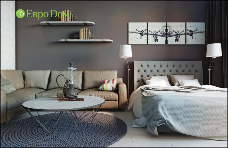 На фото: спальная комната в стиле фьюжн