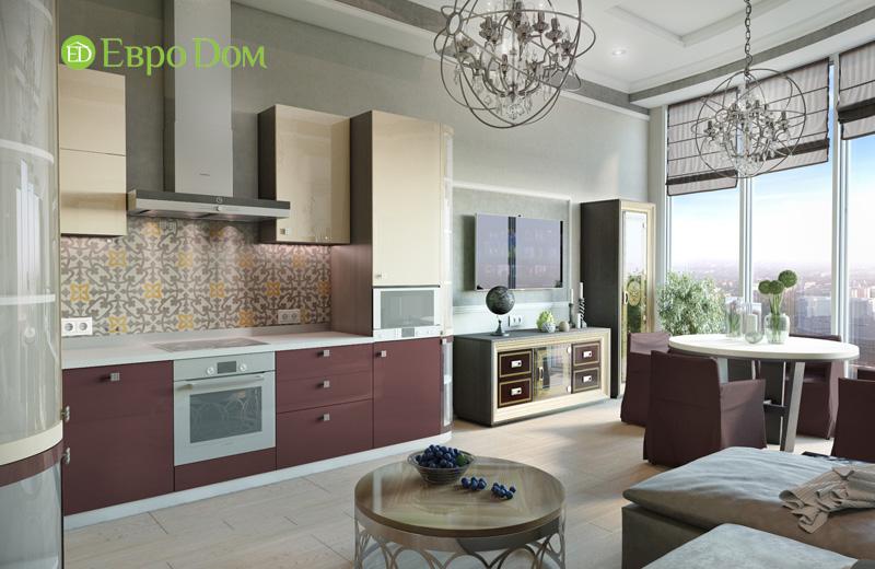 Дизайн интерьера 3-комнатной квартиры в стиле фьюжн. Фото 09