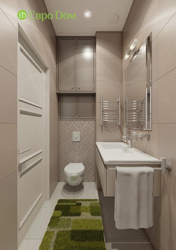 Дизайн интерьера 3-комнатной квартиры в стиле фьюжн. Фото 010