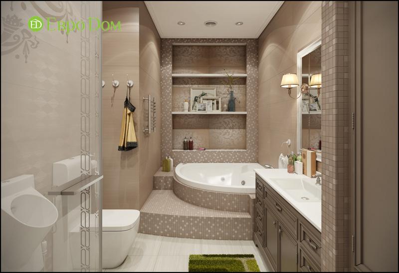 Дизайн интерьера 3-комнатной квартиры в стиле фьюжн. Фото 015