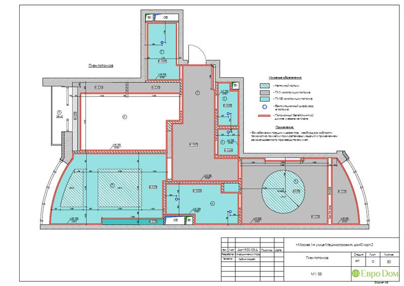Дизайн интерьера 3-комнатной квартиры в стиле фьюжн. Фото 030