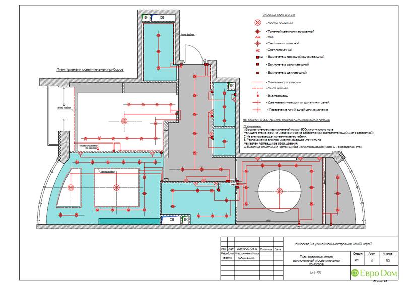 Дизайн интерьера 3-комнатной квартиры в стиле фьюжн. Фото 032