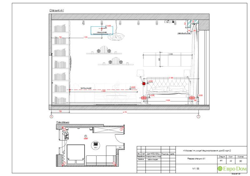 Дизайн интерьера 3-комнатной квартиры в стиле фьюжн. Фото 041