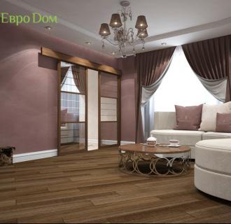 Дизайн двухкомнатной квартиры 87 кв. м в стиле легкая классика. Фото проекта