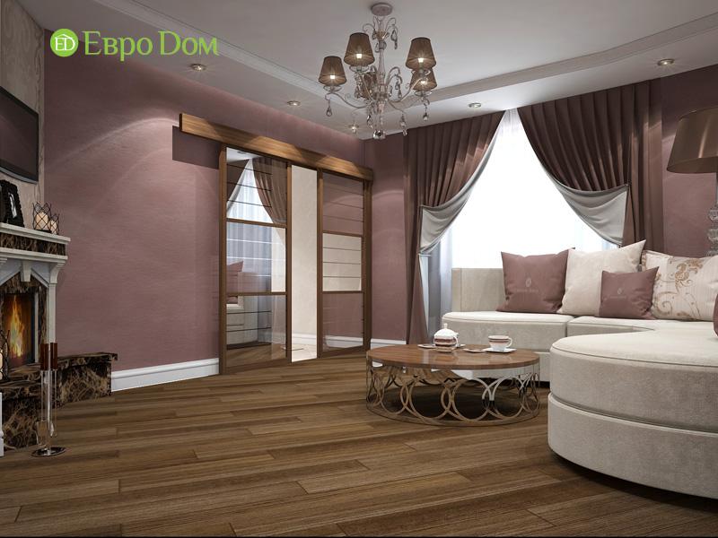 Двухкомнатная квартира 87 кв. м. Дизайн интерьера в стиле легкая классика. Фото 02
