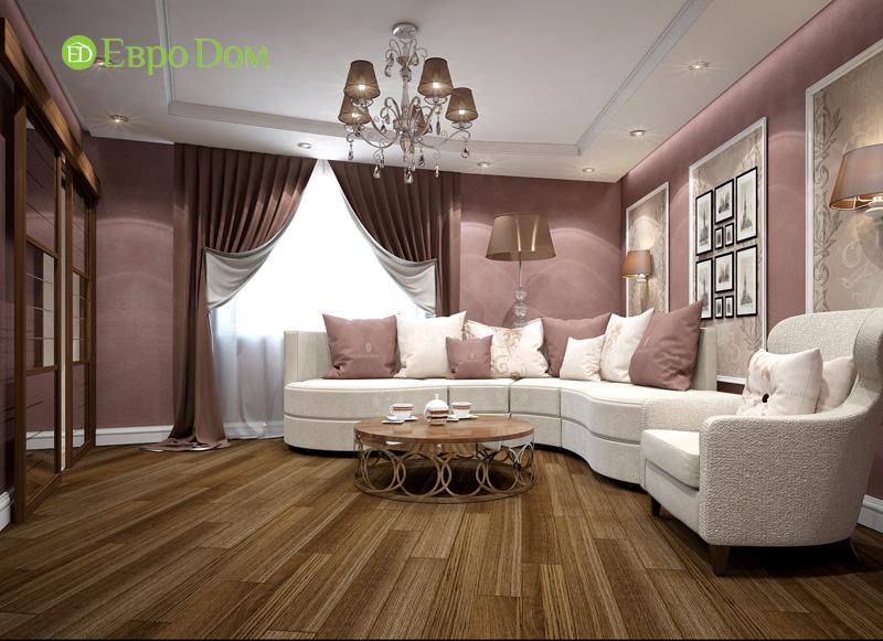 На фото: трехкомнатная квартира в стиле легкой классики