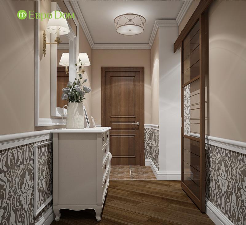 Двухкомнатная квартира 87 кв. м. Дизайн интерьера в стиле легкая классика. Фото 09