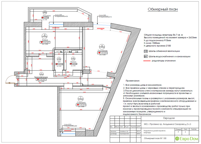 Двухкомнатная квартира 87 кв. м. Дизайн интерьера в стиле легкая классика. Фото 016
