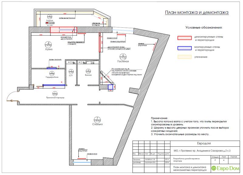 Двухкомнатная квартира 87 кв. м. Дизайн интерьера в стиле легкая классика. Фото 018