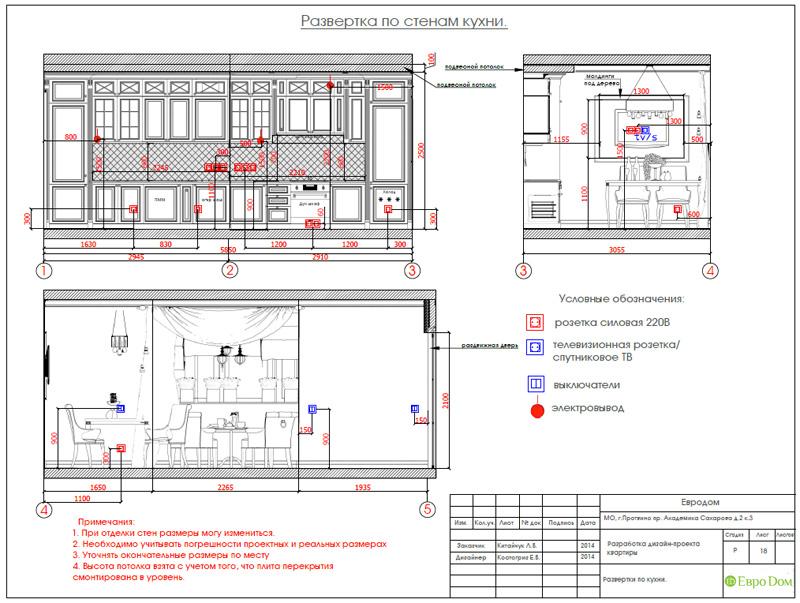 Двухкомнатная квартира 87 кв. м. Дизайн интерьера в стиле легкая классика. Фото 032