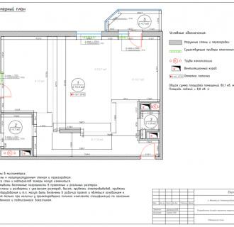 Дизайн трехкомнатной квартиры 87 кв. м в стиле легкая классика. Фото проекта