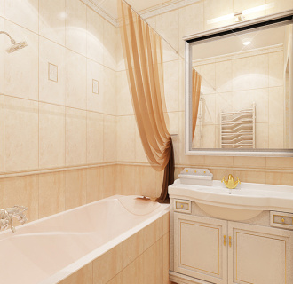 Дизайн трехкомнатной квартиры 89 кв. м в стиле легкая классика. Фото проекта