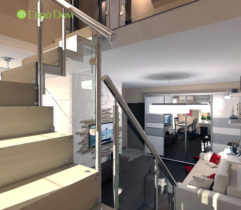 Дизайн 3-комнатной квартиры 63 кв. м в стиле лофт. Фото 03