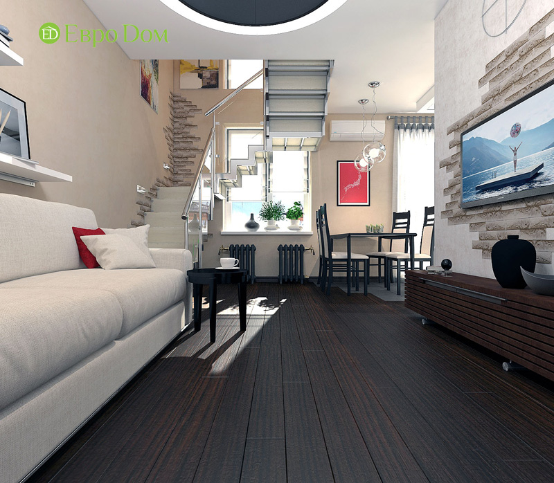 Дизайн 3-комнатной квартиры 63 кв. м в стиле лофт. Фото 09