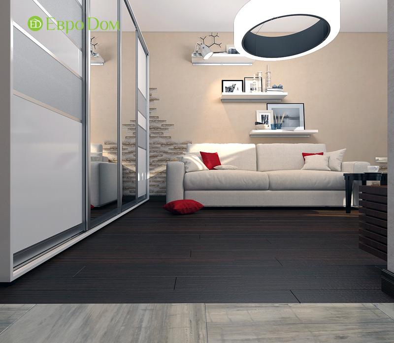 Дизайн 3-комнатной квартиры 63 кв. м в стиле лофт. Фото 010