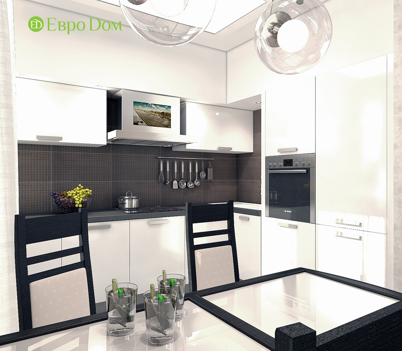 Дизайн 3-комнатной квартиры 63 кв. м в стиле лофт. Фото 011