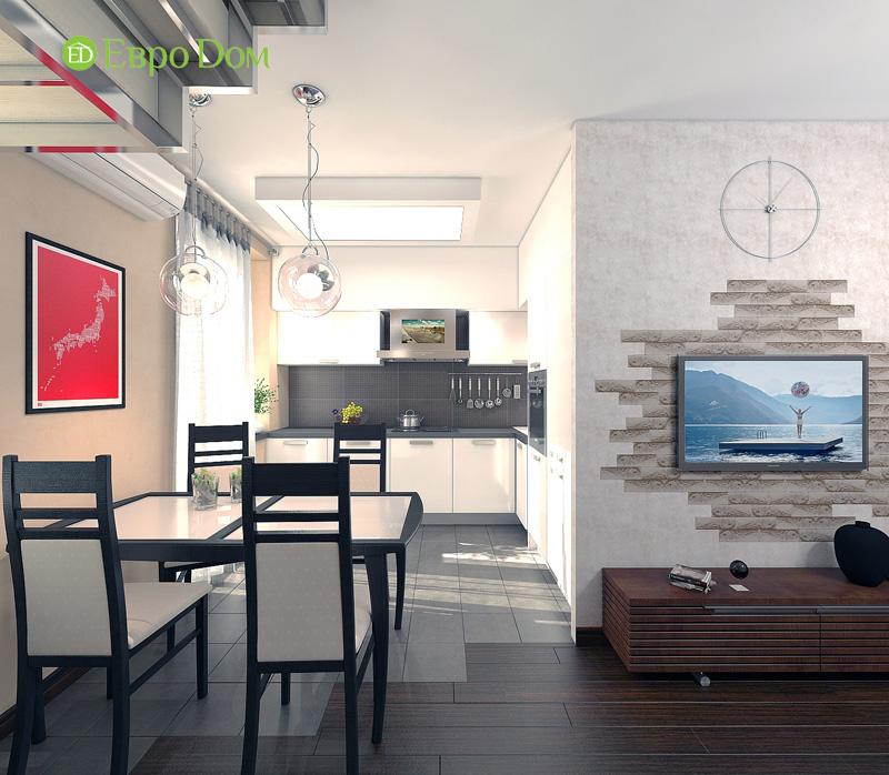 Дизайн 3-комнатной квартиры 63 кв. м в стиле лофт. Фото 012