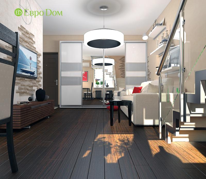 Дизайн 3-комнатной квартиры 63 кв. м в стиле лофт. Фото 013