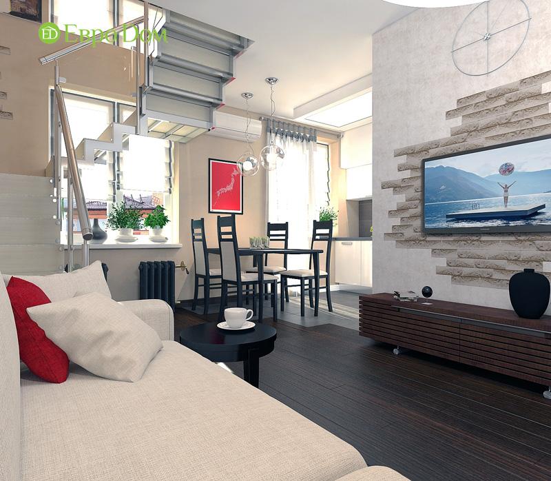 Дизайн 3-комнатной квартиры 63 кв. м в стиле лофт. Фото 014