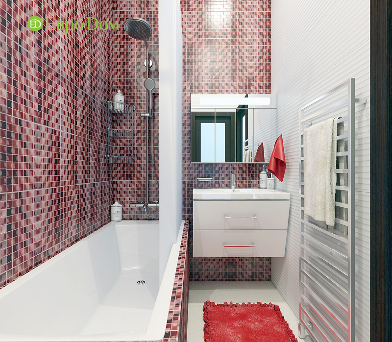 Дизайн 3-комнатной квартиры 63 кв. м в стиле лофт. Фото 019