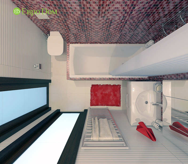 Дизайн 3-комнатной квартиры 63 кв. м в стиле лофт. Фото 020