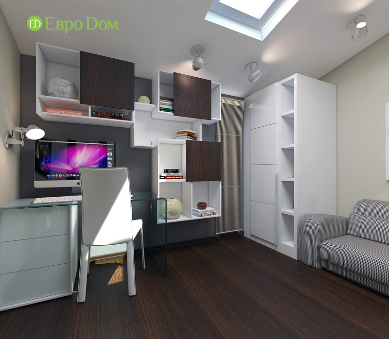 Дизайн 3-комнатной квартиры 63 кв. м в стиле лофт. Фото 022