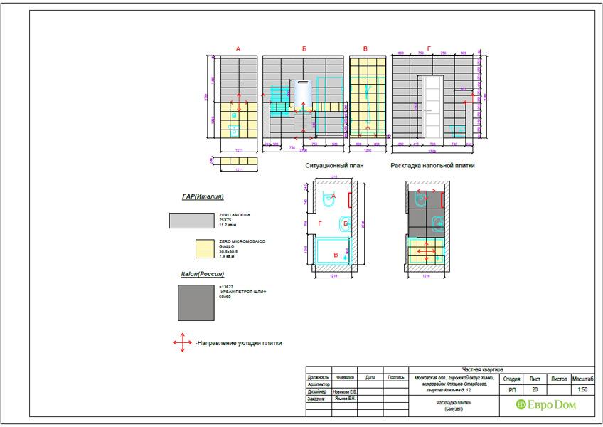 Дизайн 3-комнатной квартиры 63 кв. м в стиле лофт. Фото 049