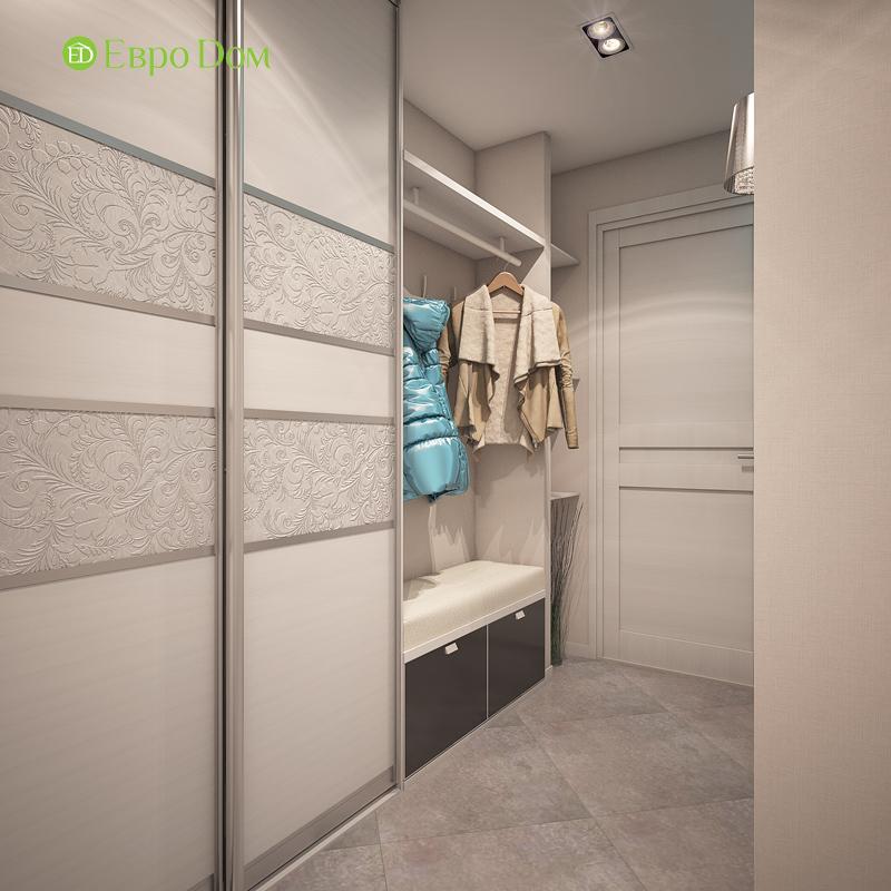 Дизайн трехкомнатной квартиры 64 кв. м в современном стиле. Фото 02