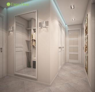 Дизайн трехкомнатной квартиры 64 кв. м в современном стиле. Фото проекта