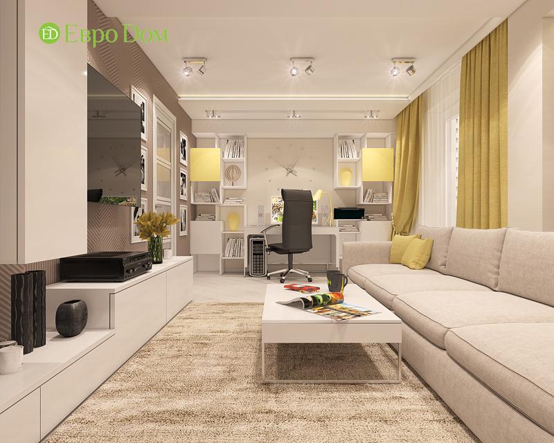 Дизайн трехкомнатной квартиры 64 кв. м в современном стиле. Фото 05
