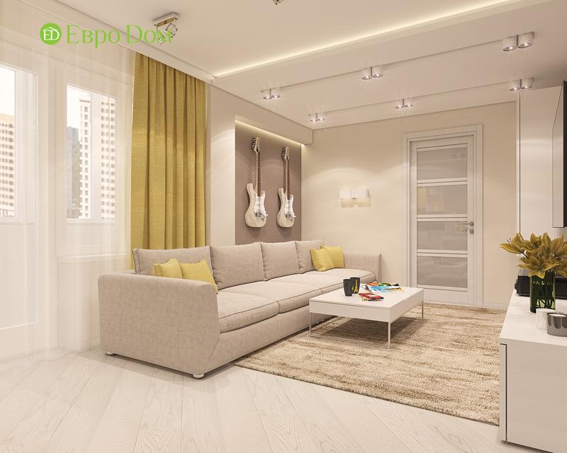 Дизайн трехкомнатной квартиры 64 кв. м в современном стиле. Фото 06