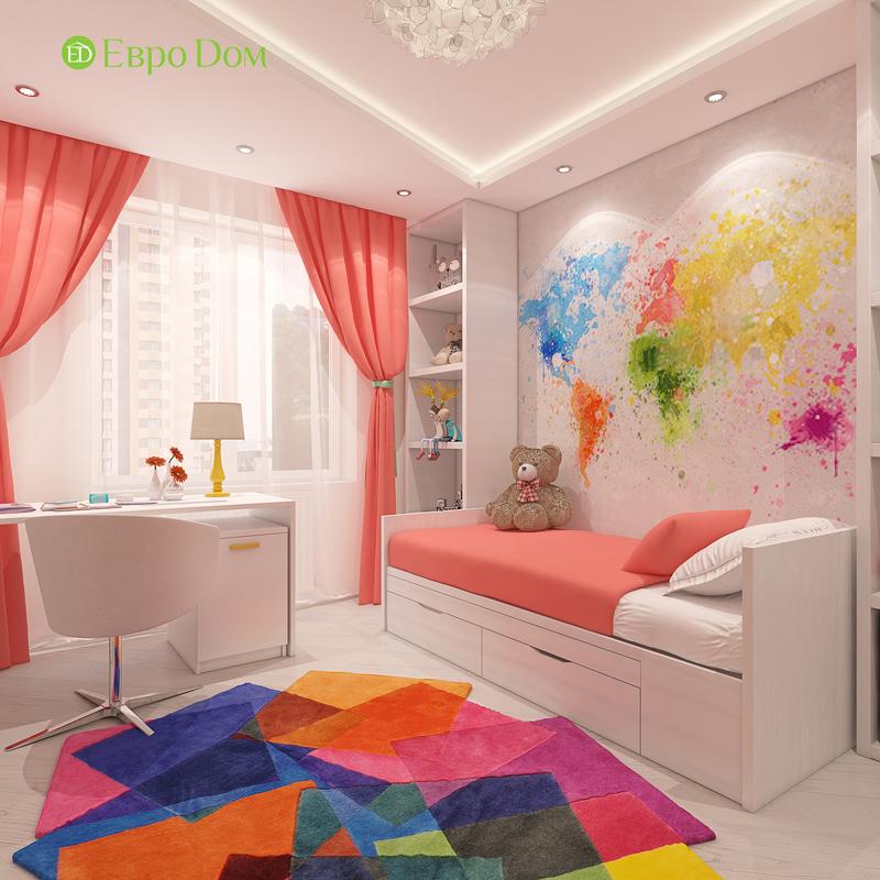 Дизайн трехкомнатной квартиры 64 кв. м в современном стиле. Фото 017