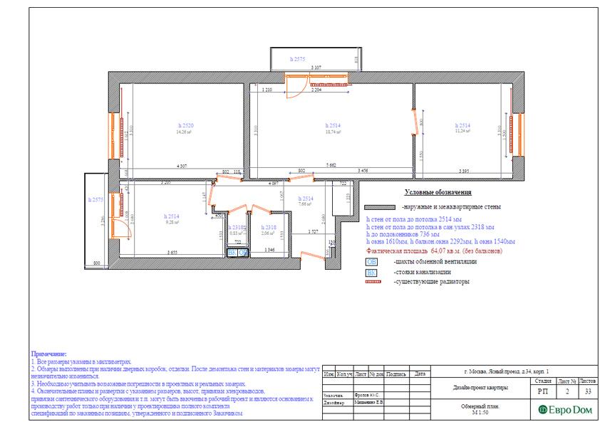 Дизайн трехкомнатной квартиры 64 кв. м в современном стиле. Фото 019