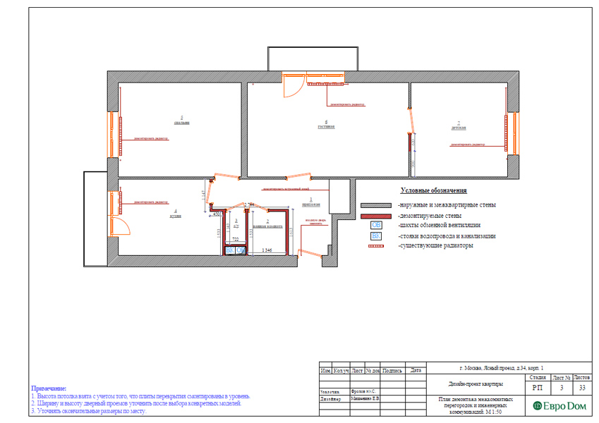Дизайн трехкомнатной квартиры 64 кв. м в современном стиле. Фото 020