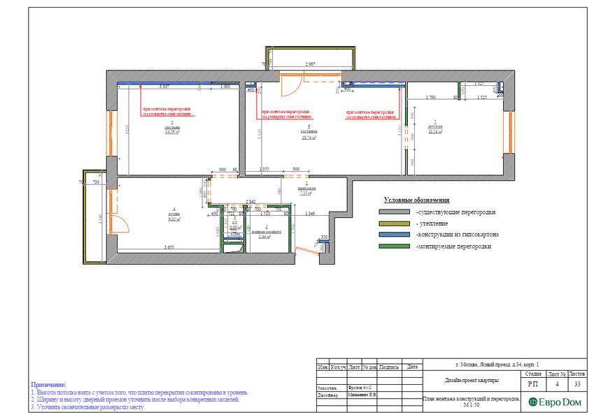 Дизайн трехкомнатной квартиры 64 кв. м в современном стиле. Фото 021