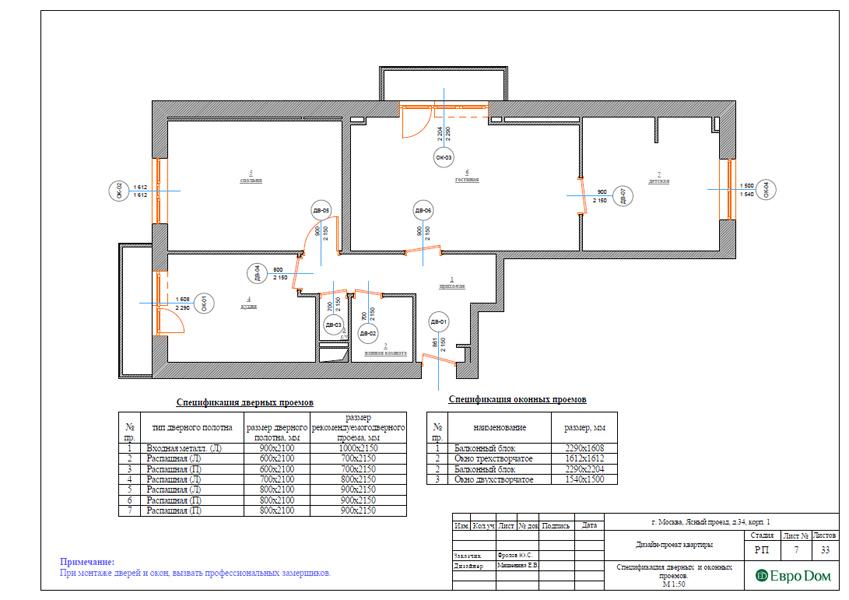 Дизайн трехкомнатной квартиры 64 кв. м в современном стиле. Фото 024