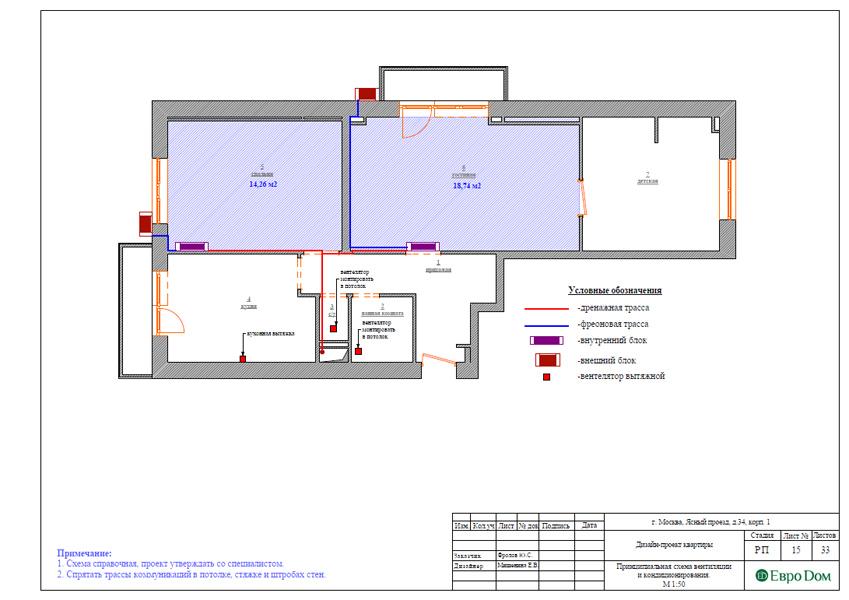 Дизайн трехкомнатной квартиры 64 кв. м в современном стиле. Фото 033