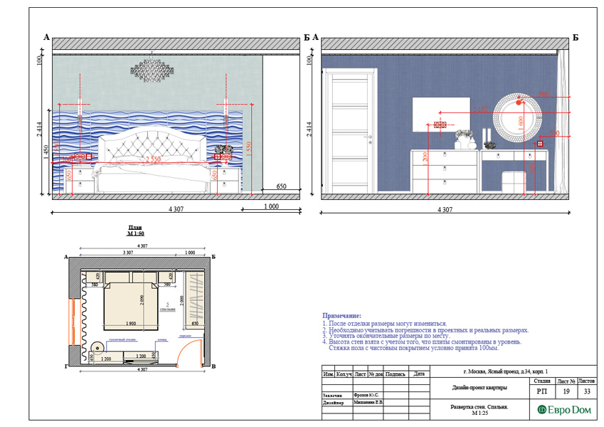 Дизайн трехкомнатной квартиры 64 кв. м в современном стиле. Фото 037