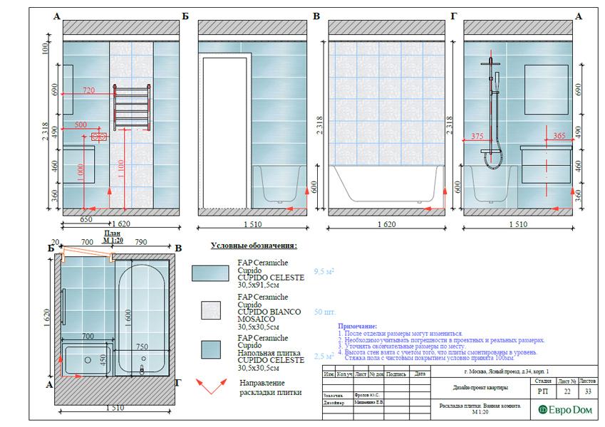Дизайн трехкомнатной квартиры 64 кв. м в современном стиле. Фото 040