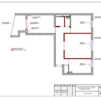 Дизайн трехкомнатной квартиры 63 кв. м в современном стиле. Фото проекта