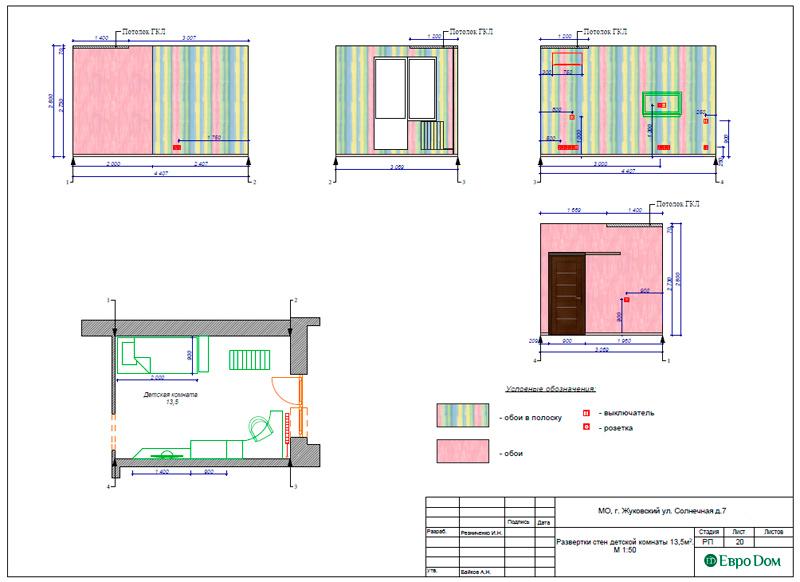 Дизайн-проекты. Стиль: Современный. Рабочие чертежи. Фото 19
