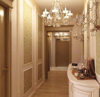 Дизайн четырехкомнатной квартиры 104 кв. м в классическом стиле. Фото проекта