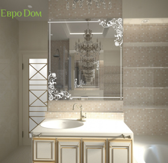 Дизайн трехкомнатной квартиры 76 кв. м в стиле неоклассицизм. Фото проекта