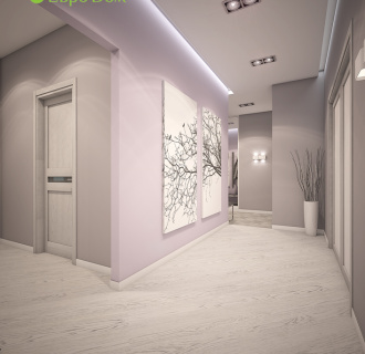 Дизайн трехкомнатной квартиры 93 кв. м в современном стиле. Фото проекта