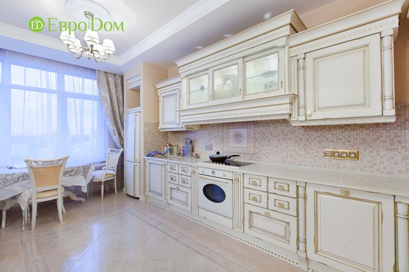 Ремонт трёхкомнатной квартиры. Интерьер в классическом стиле. Фото 012