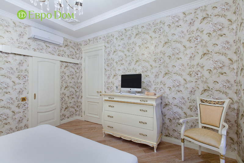 Ремонт трёхкомнатной квартиры. Интерьер в классическом стиле. Фото 018