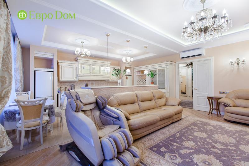 Ремонт трёхкомнатной квартиры. Интерьер в классическом стиле. Фото 020